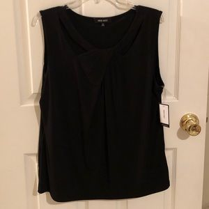 NWT Nine West Black Sleeveless Blouse